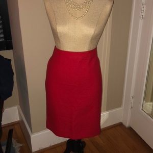 Red Number 2 Pencil Skirt by J Crew